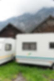 florence iff, glarnerland, abgelegen, dokumentar fotgrafie, schnee, berg, wohnwagen, landschaft