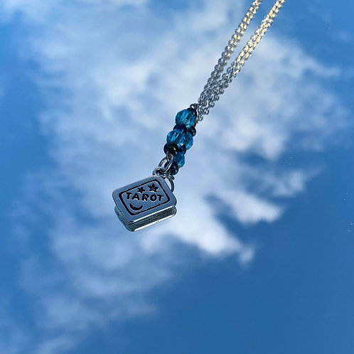 "Rainbow hematite tarot necklace 14"" (choker)"