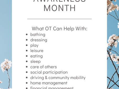 Occupational Therapy Awareness Month