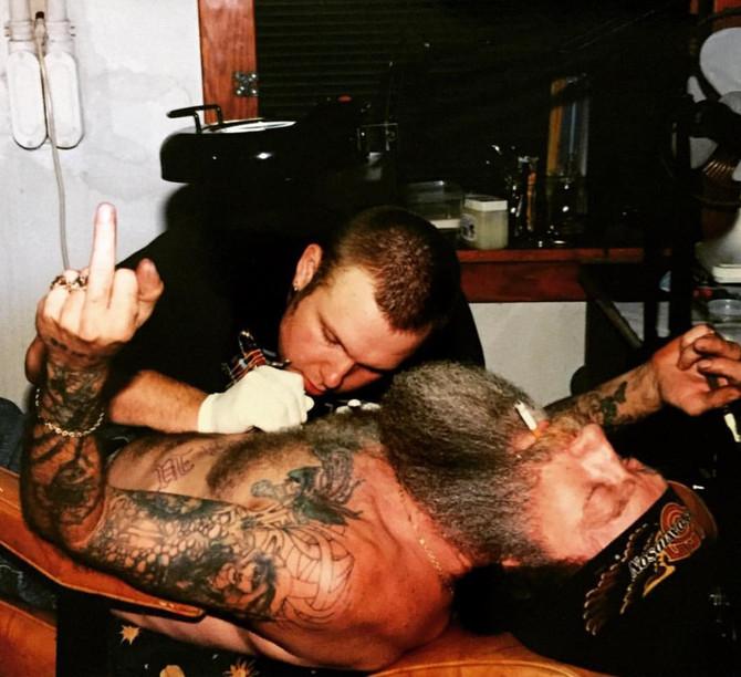 Jason's first tattoo