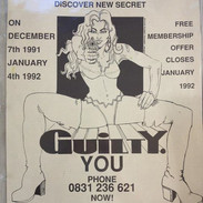 Illustration and logo for 'Guilty'