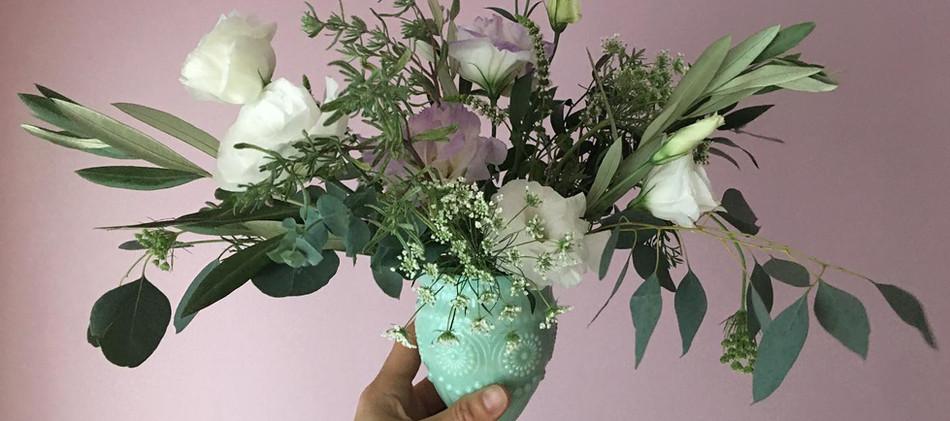 bud vases with wild panache