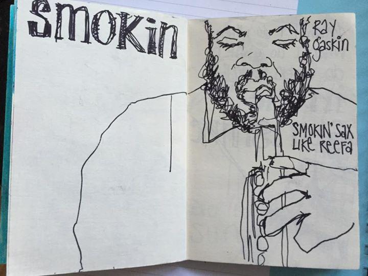 More early London Jazz sketchbook drawings