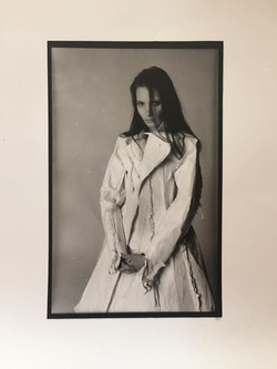 The Photoshoot I did of Hussein Chalayan's first ever collection.  He made it entirely of paper stic