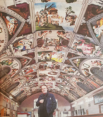 Gary Bevans artist of the Sistine chapel