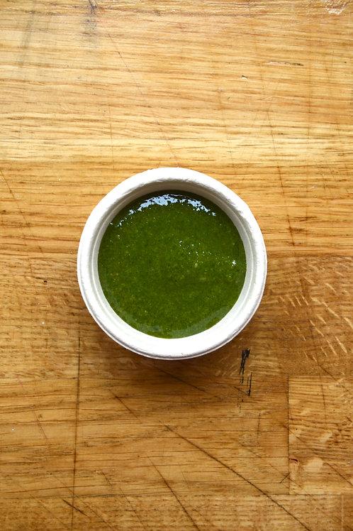 Basil Pesto (Vegetarian, Gluten free, Nut free)