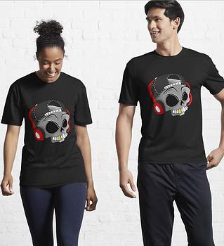 Pop punk skull merch tshirt