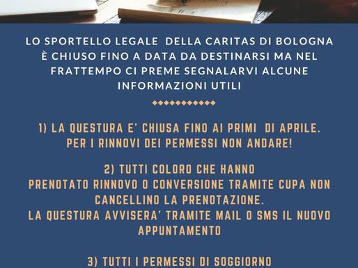 Informazioni sullo Sportello Legale Caritas