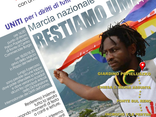 """""""RESTIAMO UMANI"""": STAFFETTA PER I DIRITTI"""
