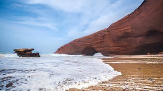 Monumental beaches in Legzira