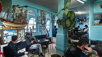 Cafe' Baba in Tangier, one of the bars where they meet the Rolling Stones
