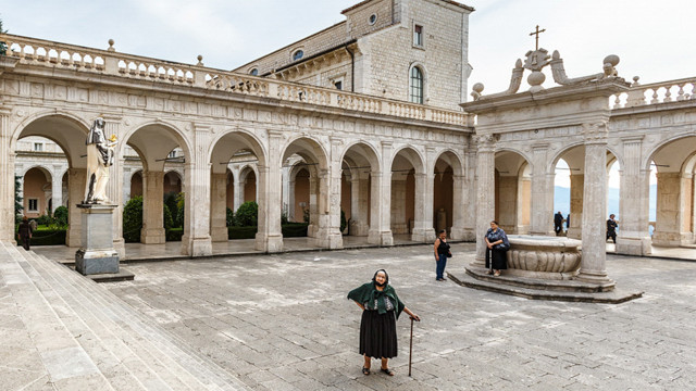 Pilgrims arrived from Sardinia to Montecassino Abbey