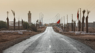 The arrival to the city of Sidi Ifni