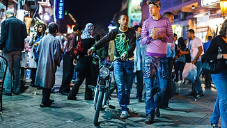 Evening lifestyle in Essaouira
