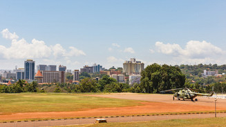 Kampala and the helicopter of President Museveni, after 30 years of leading the country, and 'was re-elected president of Uganda for a fifth term in 2016