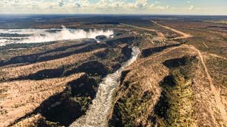 Zambesi river and Victoria Falls