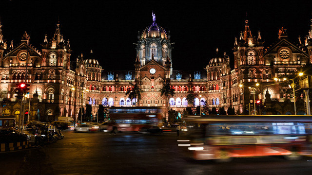 The Chhatrapati Shivaji railway station, originally called Victoria's Terminus is one of the busiest railway stations in India