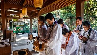 Pilgrims at Ryozenji Temple