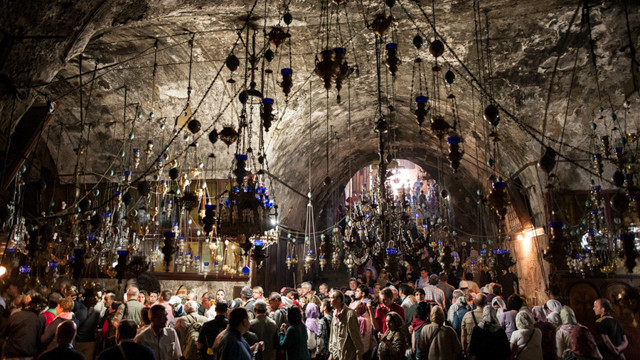 Orthodox pilgrims to the Virgin's Holy Sepulchre