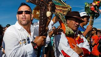 Gypsy in Santa Sara procession in Saint Marie de La Mer for the Black Madonna rituals in Camargue