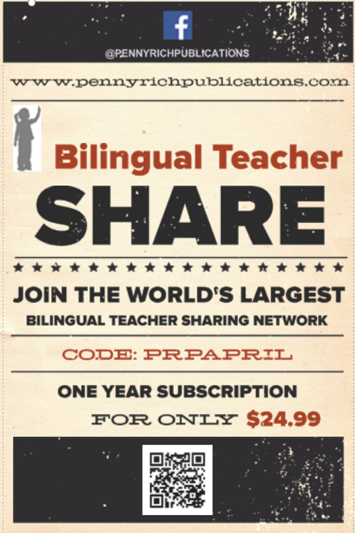 Bilingual Teacher Share Kindergarten COMMON CORE - One Year Subscription