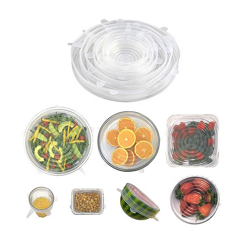 Silicone Stretch Lids. 7pc set