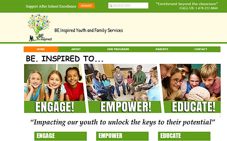 Be Inspired Youth and Family Services created by iZiggy Promotions