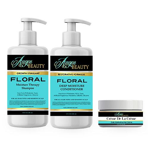 Floral Combo Hair Kit w/ Moisturizer