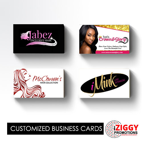 Hair Branding Business Cards by iZiggy Promotions