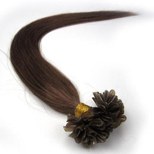 Chocolate Brown U-Tip Human Hair Extensions