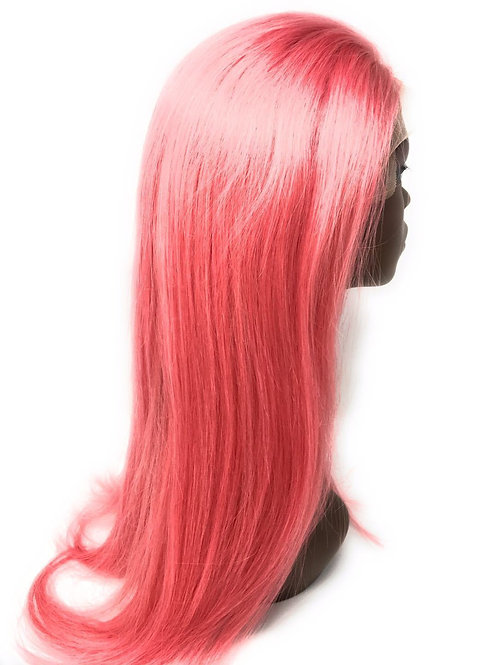 "22"" Pink Straight Lace Frontal Wig"
