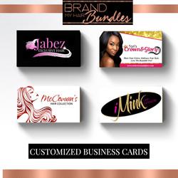 Brand My Hair Bundles Business Cards
