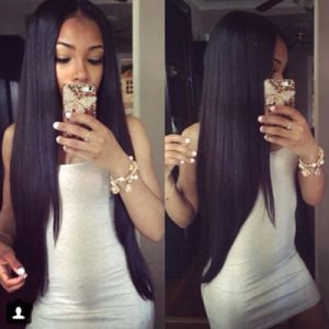 9A Silky's Straight Full Lace Wig
