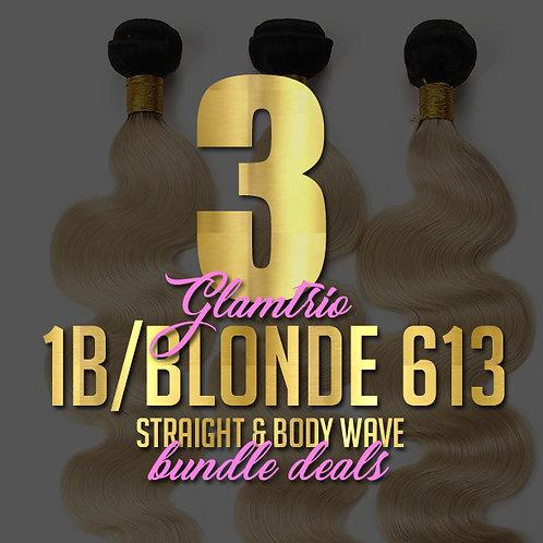 3 Bundle Deal: 1B/613 Ombre w/ Frontal