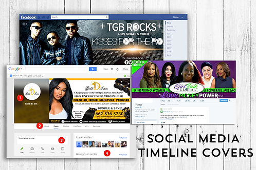 Social Media Timeline Covers by iZiggy Promotions