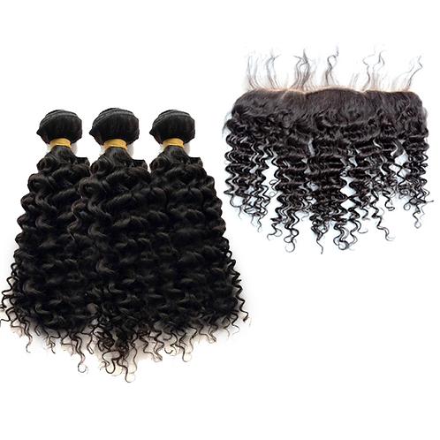 Bohemian Curl 3 Bundles w/ Frontal