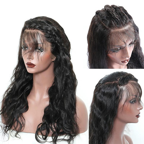 Full Lace Wig 150% Density Body Wave Natural Black