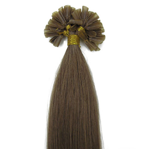 Chestnut U-Tip Human Hair Extensions