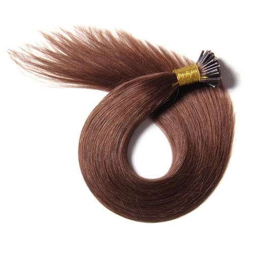 Chocolate Brown I-Tip Human Hair Extensions