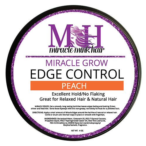 Miracle Mink Hair Grows Edge Control: Peach