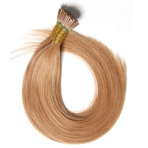 Light Brown I-Tip Human Hair Extensions