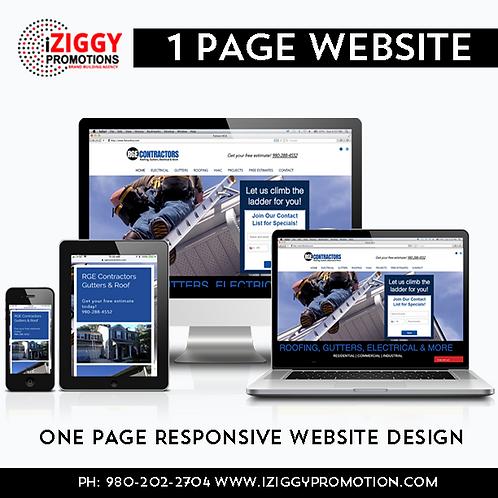 (EC) 1-Page Business Start-Up Website