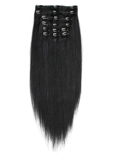 Black Silky Straight Clip-Ins