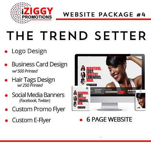 iZiggy Promotions The Trend Setter Hair Extension Website Package