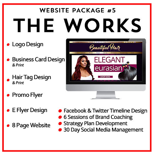 Hair Branding Website Package #5: The Works