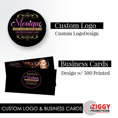 Custom Logo and Business Card Bundle by iZiggy Promotions