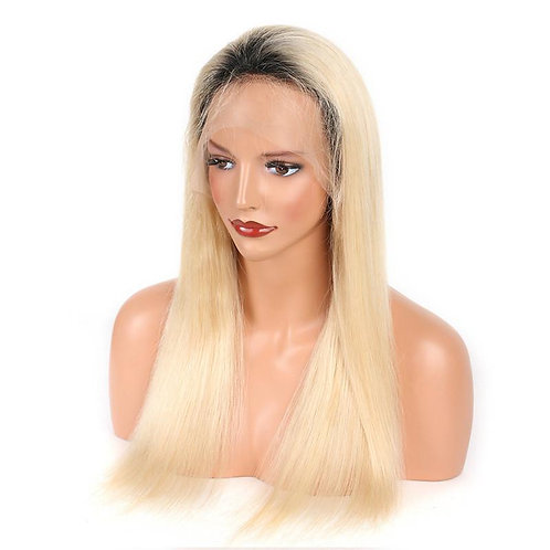 Full Lace Wig Ombre 1B/613 150% Straight Hair