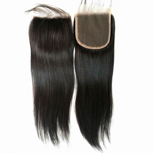 Tori's Crown & Glory Brazilian Mink Silky Straight Closure
