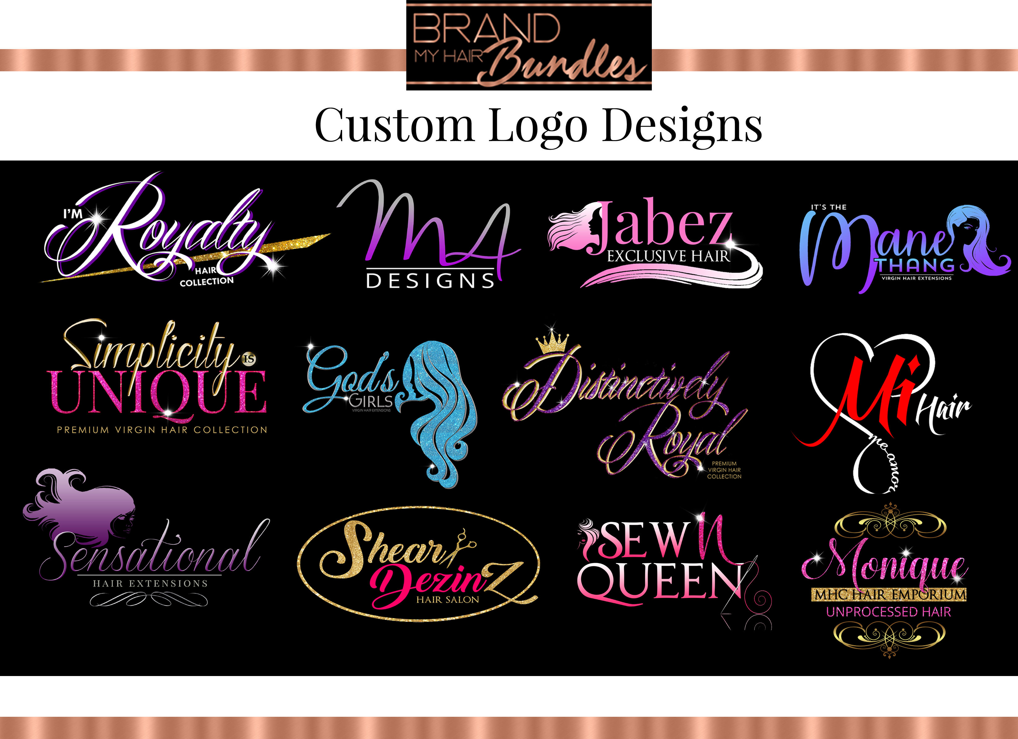 Brand My Hair Bundles Custom Logo