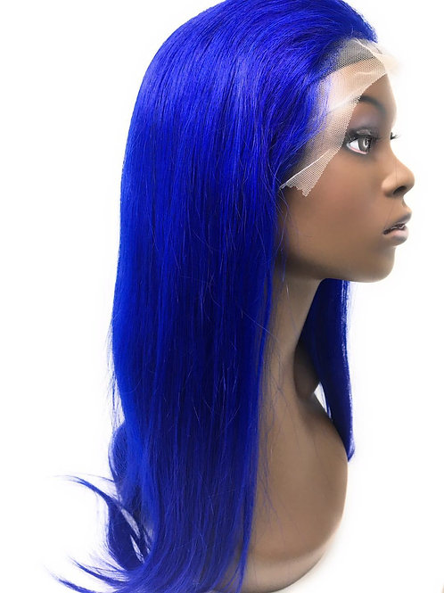 """22"""" Electric Blue Straight Lace Frontal Wig"""